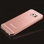 เคส Samsung Galaxy S6 Edge l เคสฝาหลัง + Bumper (แบบเงา) ขอบกันกระแทก สีโรสโกลด์