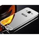 เคส Samsung Galaxy A8 l เคสฝาหลัง + Bumper (แบบเงา) ขอบกันกระแทก สีเงิน
