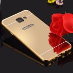 เคส Samsung Galaxy A7 2016 l เคสฝาหลัง + Bumper (แบบเงา) ขอบกันกระแทก สีทอง