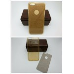 เคส iPhone 6/6S เคสนิ่ม Slim TPU พร้อมจุด Pixel ขนาดเล็กด้านในเคสป้องกันเคสติดกับตัวเครื่อง (แถมแผ่นกากเพชร) สีทองใส