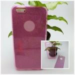 เคส iPhone 6/6S เคสนิ่ม Slim TPU พร้อมจุด Pixel ขนาดเล็กด้านในเคสป้องกันเคสติดกับตัวเครื่อง (แถมแผ่นกากเพชร) สีชมพูใส