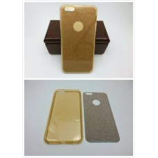 เคส iPhone 6 Plus เคสนิ่ม Slim TPU พร้อมจุด Pixel ขนาดเล็กด้านในเคสป้องกันเคสติดกับตัวเครื่อง (แถมแผ่นกากเพชร) สีทองใส