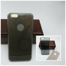 เคส iPhone 6 Plus เคสนิ่ม Slim TPU พร้อมจุด Pixel ขนาดเล็กด้านในเคสป้องกันเคสติดกับตัวเครื่อง (แถมแผ่นกากเพชร) สีดำใส