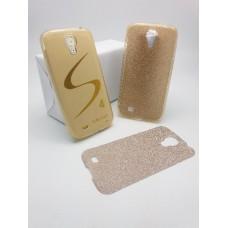 เคส Samsung Galaxy S4 เคสนิ่ม Slim TPU พร้อมจุด Pixel ขนาดเล็กด้านในเคสป้องกันเคสติดกับตัวเครื่อง (แถมแผ่นกากเพชร) สีทองใส