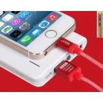 สายชาร์จ iPhone 5/6 Golf Silk Screen Cable - สีแดง