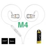 หูฟัง สมอลล์ทอล์ค Hoco M4 Colorful Earphone สีขาว