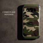 เคส Samsung Galaxy J7 Version 2 (2016) กรอบบั๊มเปอร์กันกระแทก Defender ลายทหาร (Camouflage Series) สีเขียว