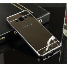 เคส Samsung Galaxy J7 Version 2 (2016) เคสฝาหลัง + Bumper (แบบเงา) ขอบกันกระแทก สีสเปซเกรย์