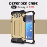 เคส Samsung Galaxy J7 Version 2 (2016) เคสบั๊มเปอร์เสริมขอบกันกระแทก สีทอง Hybrid Protection