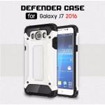 เคส Samsung Galaxy J7 Version 2 (2016) เคสบั๊มเปอร์เสริมขอบกันกระแทก สีขาว Hybrid Protection