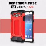 เคส Samsung Galaxy J7 Version 2 (2016) เคสบั๊มเปอร์เสริมขอบกันกระแทก สีแดง Hybrid Protection