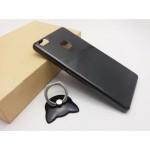 เคส Huawei P9 Lite เคสแข็งความยืดหยุ่นสูง (บางพิเศษ) พร้อม Ring Holder สีดำ