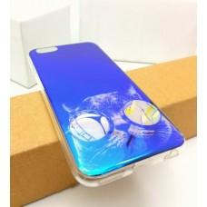 เคส iPhone 6 / 6S (4.7 นิ้ว) เคส TPU พื้นผิวเงาสะท้อน (Blu-ray Series) แบบที่ 12 แมว