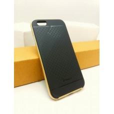เคส iPhone 6 / 6s เคส iPaky Hybrid Bumper เคสนิ่มพร้อมขอบบั๊มเปอร์ สีดำขอบทอง