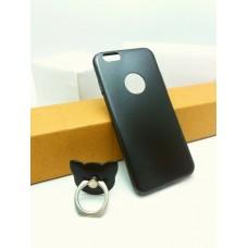 เคส iPhone 6 / 6s เคสแข็งความยืดหยุ่นสูง (บางพิเศษ) พร้อม Ring Holder สีดำ