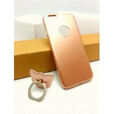 เคส iPhone 6 / 6s เคสแข็งความยืดหยุ่นสูง (บางพิเศษ) พร้อม Ring Holder สีโรสโกลด์