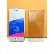 """เคส iPhone 7 Plus (5.5"""") เคสนิ่ม TPU 2 ส่วน พร้อมจุด Pixel ขนาดเล็กป้องกันเคสติดตัวเครื่อง สีดำใส (ด้านหน้า-ด้านหลัง)"""