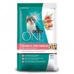Purina ONE ชนิดเม็ด สำหรับแมวโต สูตรปลาแซลมอนและปลาทูน่า 7.26 kg