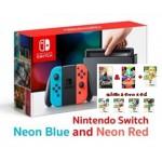 Nintendo Switch : Neon Blue And Neon Red (สีฟ้า/แดง) แถมแผ่นเกม+FIGURE