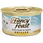 Fancy Feast Grilled Tuna in Gravy ชนิดเปียก สำหรับแมวโต สูตรปลาทูน่าในน้ำเกรวี่ 85 กรัม