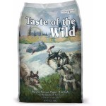Taste of the Wild Pacific Stream Puppy Formula with Smoked Salmon ชนิดเม็ด สูตรปลาแซลมอนรมควัน สำหรับลูกสุนัขทุกสายพันธุ์ 680 กรัม (ซื้อ1แถม1)