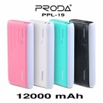 Proda Power Bank PPL-19 12000 mAh สีชมพู