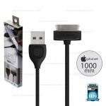 REMAX Cable iPhone4/4s RC-050 LESU (Black)
