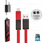 REMAX Cable iPhone5/5s/6/6s/Micro RC-026T Red