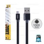 REMAX Cable Micro USB (1M,V2) Pudding Black