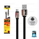 REMAX Cable Micro 1M,หอมl(Black) - สายชาร์จ REMAX Smell