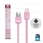 REMAX Cable Micro RC-008 Pink (1M,แบน)
