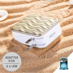 REMAX Adapter 4USB RP-U41 (Gold,Wave)