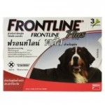 FRONTLINE Plus สำหรับสุนัขน้ำหนัก 40-60 กก. 1 กล่อง บรรจุ 3 หลอด