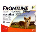 FRONTLINE Plus สำหรับสุนัขน้ำหนักไม่เกิน 10 กก. 1 กล่อง บรรจุ 3 หลอด