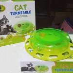 Cat turntable รางบอลพร้อมที่ใส่อาหาร ของเล่นสำหรับแมว