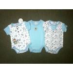 มาย ลิตเติ้ล เบบี้ My Little Baby เซ็ตบอดี้สูท 3 ตัว สีฟ้า ลายหมี สำหรับอายุตั้งแต่ 0-3 เดือน