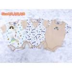 มาย ลิตเติ้ล เบบี้ My Little Baby เซ็ตบอดี้สูท 3 ตัว สีน้ำตาลลายหมี สำหรับอายุตั้งแต่ 6-9 เดือน