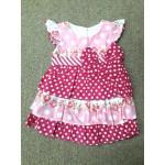 Nannette ชุดกระโปรงเด็กผู้หญิง ลายจุด สีชมพู สำหรับ 0-3 เดือน