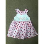 ชุดกระโปรงเด็กผู้หญิง ลายดอกไม้ สีชมพู สำหรับ 12 เดือน