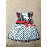 LAURA ASHLEY ชุดกระโปรงเด็กผู้หญิง สีดำแดง สำหรับ 12 เดือน