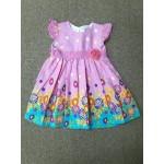 ฺBaby Q ชุดกระโปรงเด็กผู้หญิง ลายดอกไม้ สีชมพู สำหรับ 12 เดือน