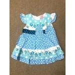 Nannette ชุดกระโปรงเด็กผู้หญิง ลายจุด สีฟ้า สำหรับ 3-6 เดือน
