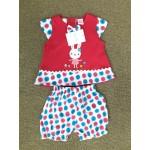 Nannette ชุดเด็กผู้หญิง ลายกระต่าย สีชมพู สำหรับ 6-9 เดือน