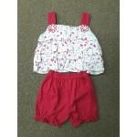 Nannette ชุดเด็กผู้หญิงสายเดี่ยว สีชมพูเข้ม สำหรับ 6-9 เดือน