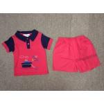 มาย ลิตเติ้ล เบบี้ My Little Baby เสื้อยืดคอปกพร้อมกางเกง สีแดง สำหรับ 6-9 เดือน