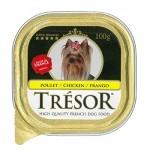 ทรีซอร์ ด็อก Tresor Dog  Chicken รสไก่ สำหรับสุนัขโตอายุตั้งแต่ 1 ปีขึ้นไป 100กรัม