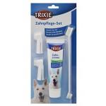 Trixie ชุดแปรงสีฟันสุนัข สูตรควบคุมหินปูน รสมินท์ 100 g