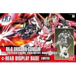 1/144 HGUC RX-0 Unicorn Gundam Destroy Mode + Head Display Base