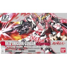 1/144 HGUC RX-0 Unicorn Gundam (Destroy Mode) Titanium Finish