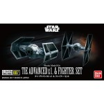 VEHICLE MODEL 007 TIE ADVANCED X 1 & TIE FIGHTER SET